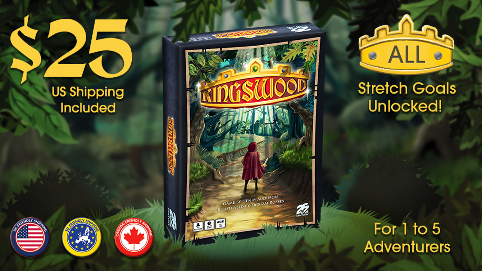 Choose a guild, gather resources, & fight monsters for the King! A light weight family friendly game for 1-5 players. Adventure awaits!