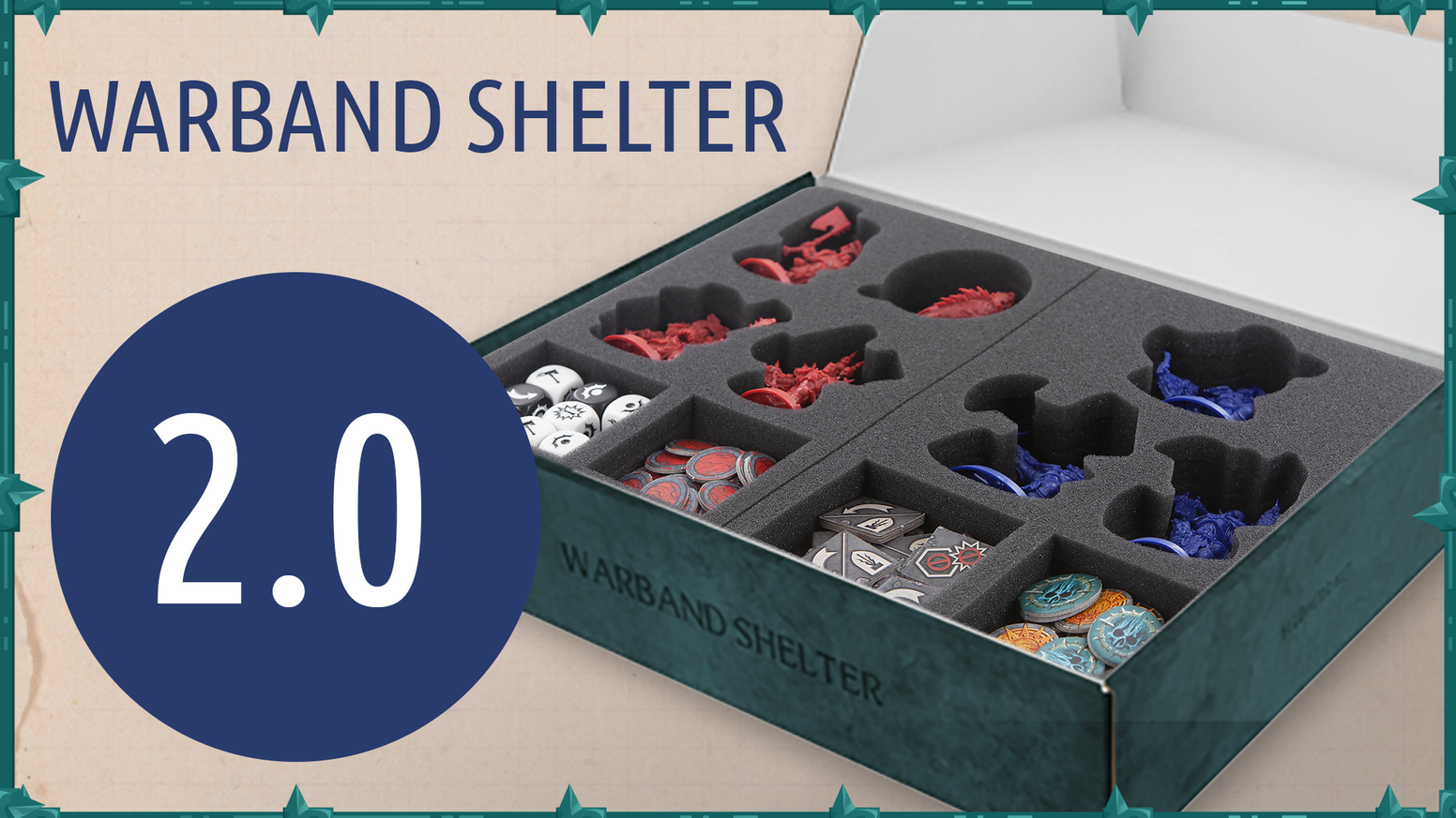 Protect, store, and casually transport tabletop miniatures. We created an easy way to bring your Shadespire miniatures to safety.
