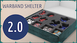 Warband Shelter with foam trays for Shadespire miniatures thumbnail