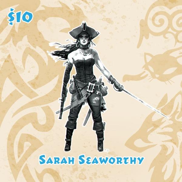 Sarah Seaworthy is designed by artist Giorgio Baroni.