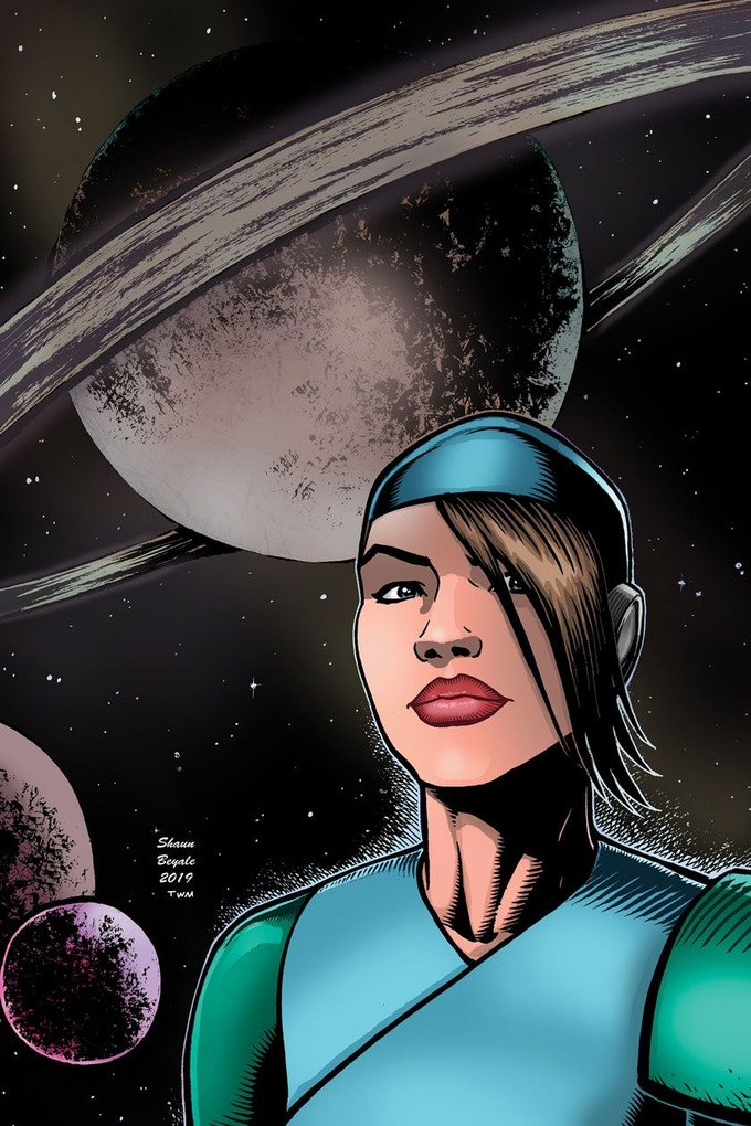 Original Cover by Shaun Beyale.  Colored by Warren Montgomery
