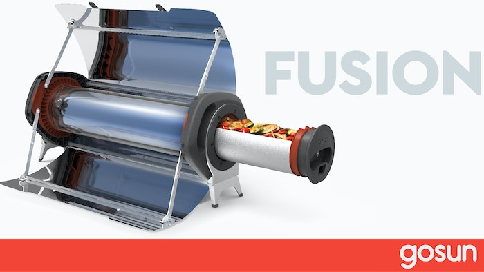Hot meals anytime, anywhere, with the highest efficiency hybrid solar oven on the planet.