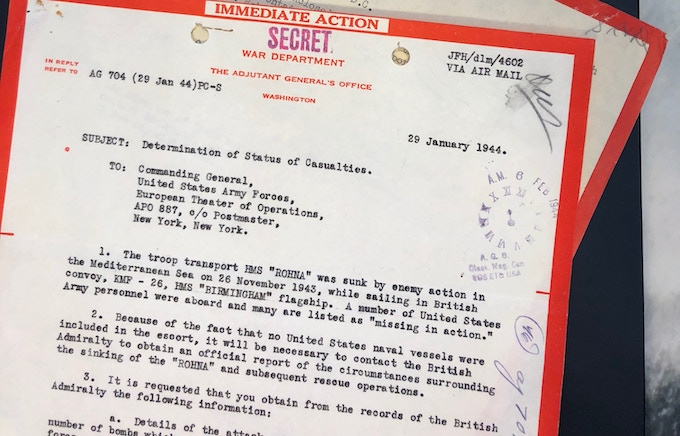 We have obtained hundreds of classified documents from both the US and British War Departments