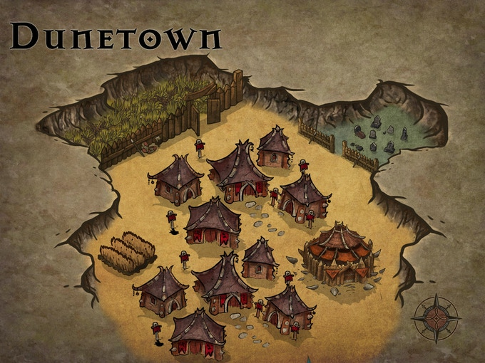 One of the widespread desert villages. This one is particularly brutal... I wonder why?