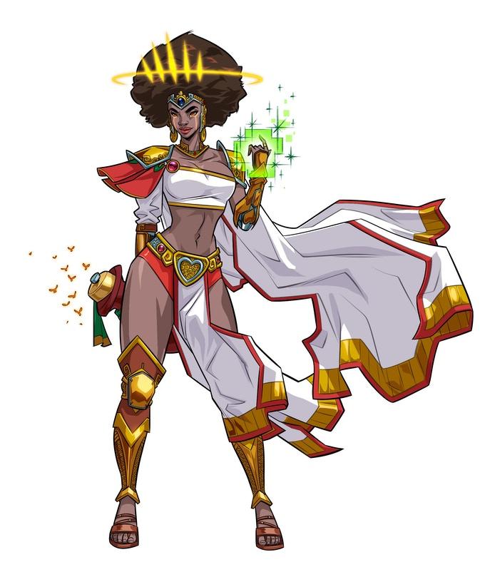 Oshun loves casting spells, especially those related to romance and seduction. She is the granter of wishes and all of your heart's desires.