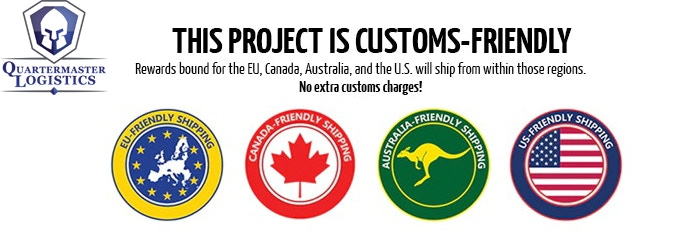 Customs Friendly Shipping to US, EU, Canada and Australia with Quartermaster Logistics.