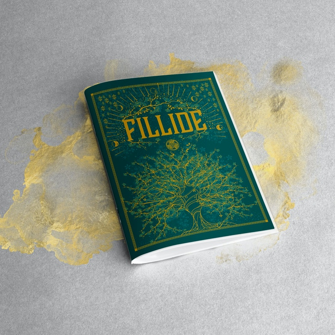 The Fillide booklet render. A Kickstarter exclusive and a real insight into the creation of the deck and the legend of Fillide.