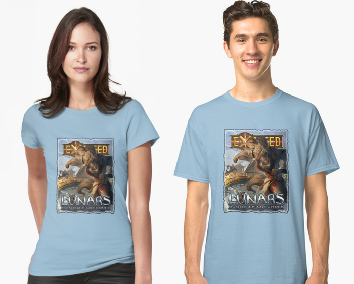 FOR A LIMITED TIME ONLY! Lunars: Fangs at the Gate Kickstarter backer T-shirts!