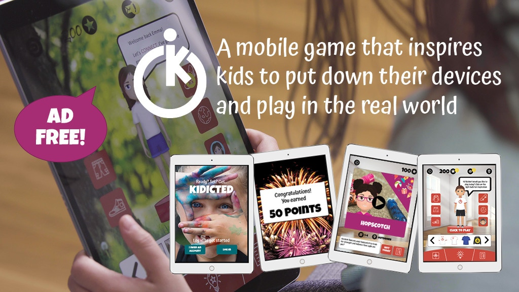 KIDICTED: Inspiring kids to put down their devices and play! project video thumbnail