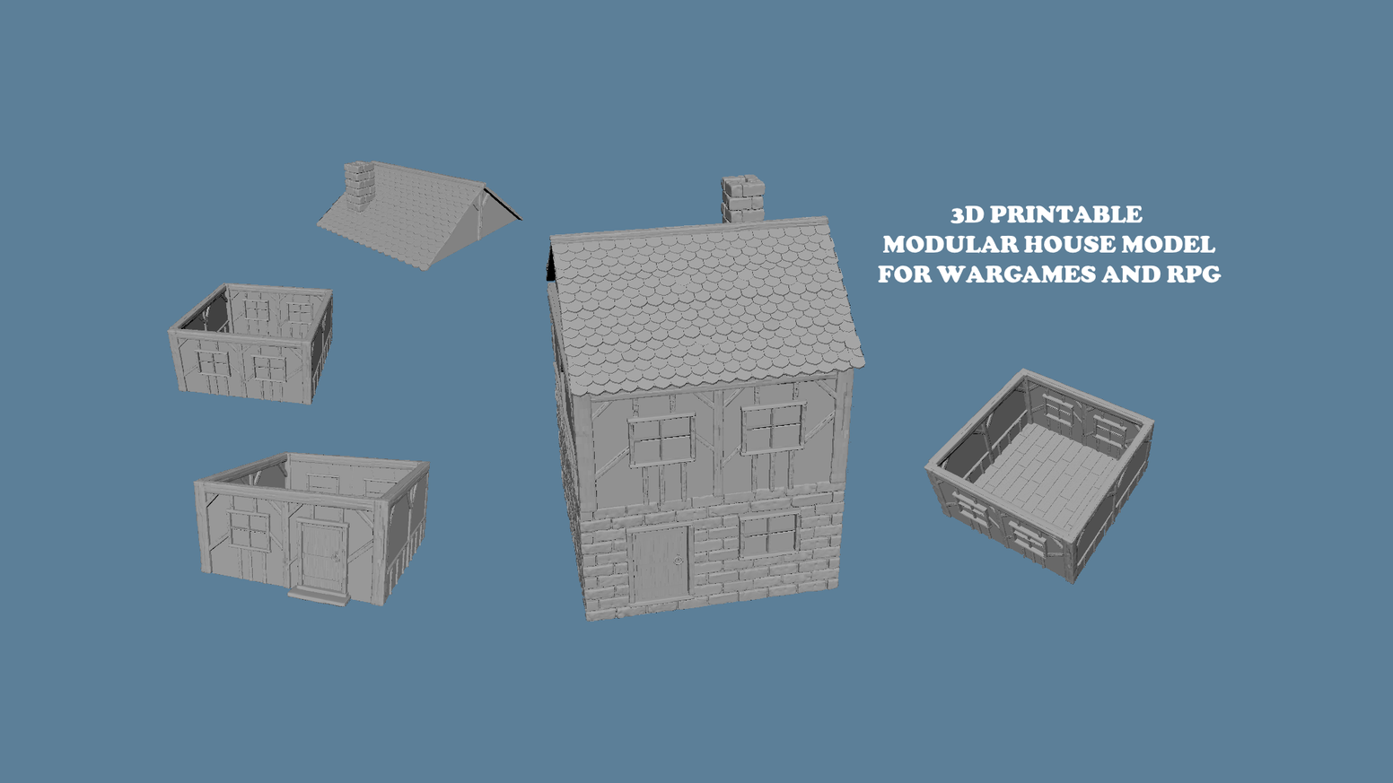 3D PRINTABLE STL OBJ BUILDINGS FOR WARGAMES AND RPG by antonio 3d