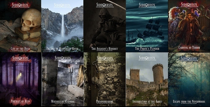All ten legacy SideQuests adventures