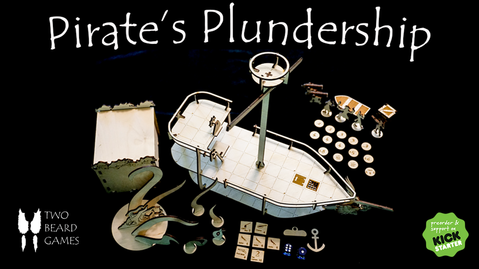 Build your own Pirate's Plundership - A family-friendly board game and tabletop RPG gaming accessory!