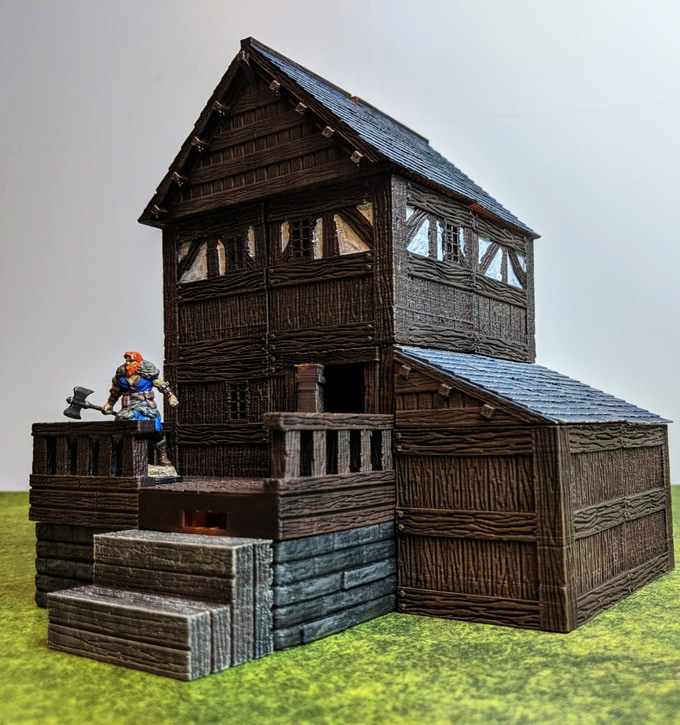 Mix and match sets so no two buildings look the same. Side roofs can be used to cover small rooms.