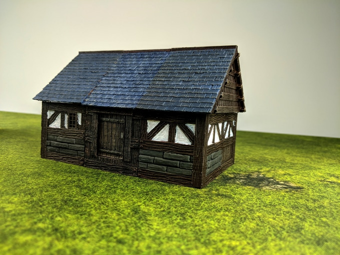 Stone and Clay pieces can create buildings for the upper class.