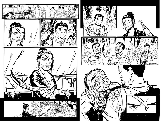 Uncolored pages, issue five