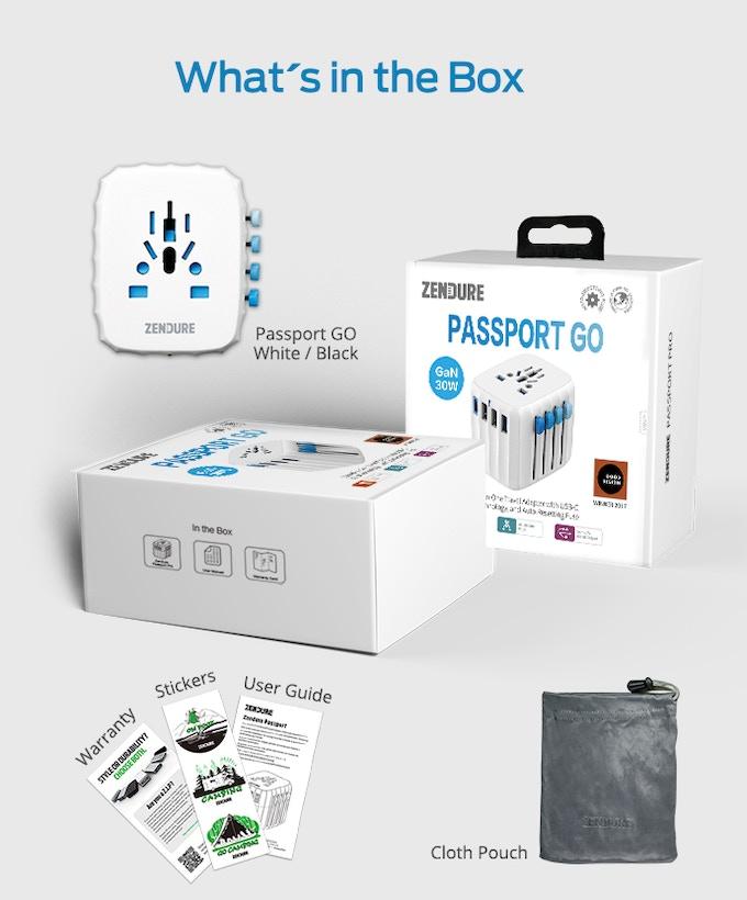 Passport GO | World's 1st Travel Adapter w/ GaN Technology - Overview