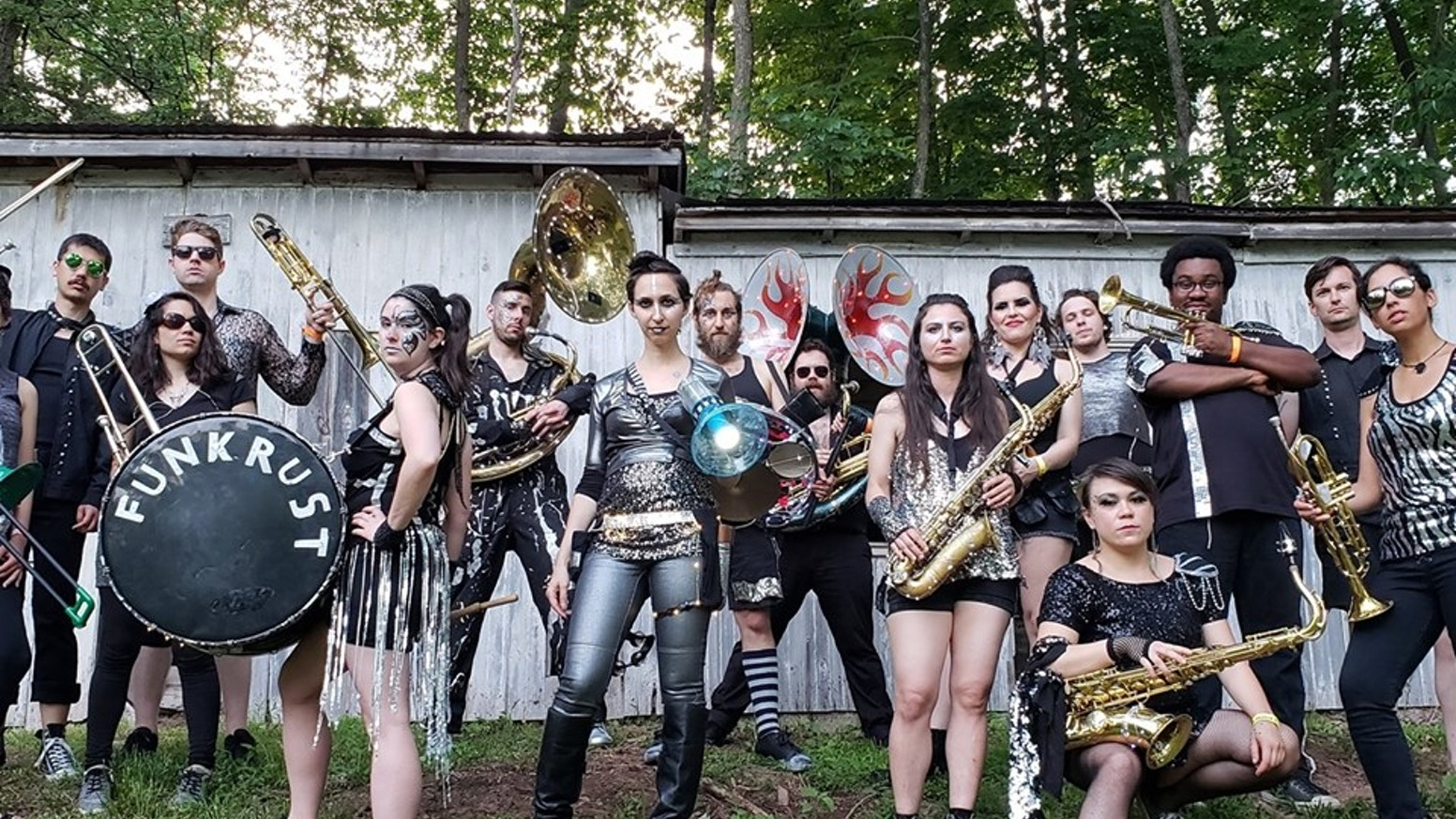 "Brooklyn's post-apocalyptic brass band returns with a four-song digital EP, a two-song 7"" vinyl single and three ambitious music videos"