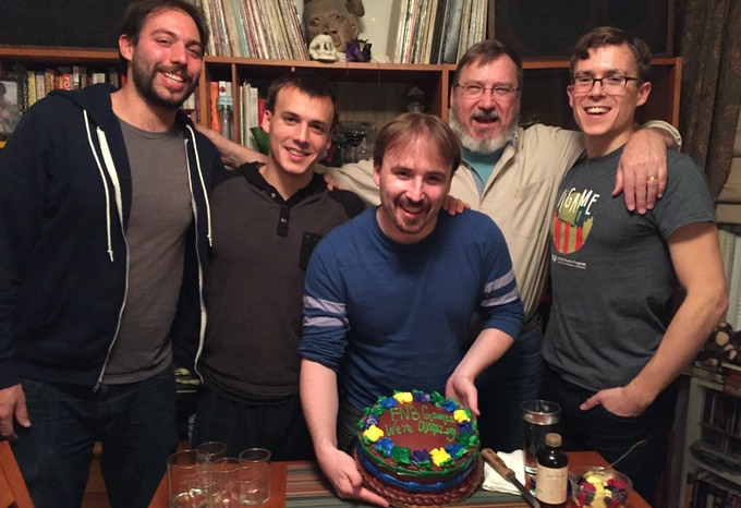 The Creators of Beyonder (left to right): Jordan Campbell, Jacob McEntire, Simon McEntire, Robin McEntire, and Caleb McEntire
