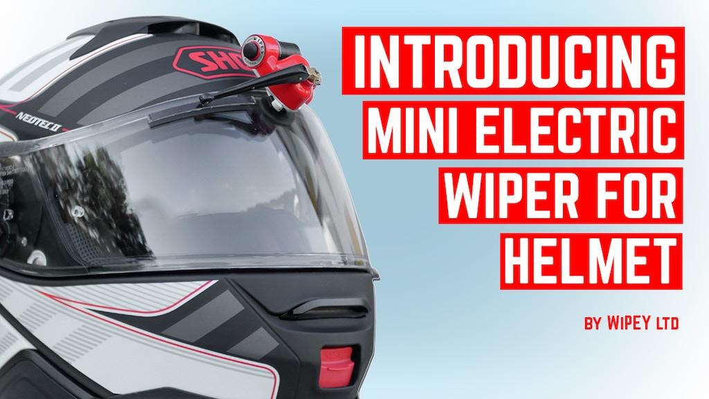 超小型で首にも負担がかからない、脱着容易なバイザーに差し込むだけヘルメット用ワイパー「WiPEY」