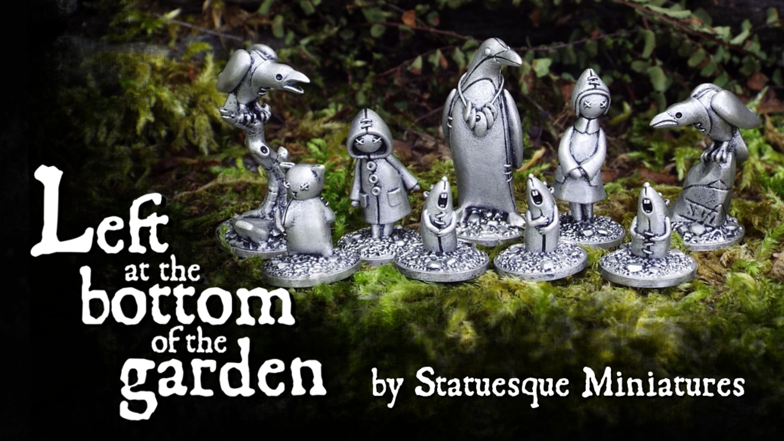 A set of high quality, lead-free metal miniatures of lost toys, suitable for tabletop gaming, painting and collecting. For anyone who missed the Kickstarter,Pre-Orderswill go live on the Statuesque webstore shortly.