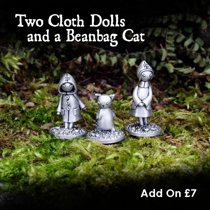 Olive, Clementine and Little Puss can be added to your pledge for £7.