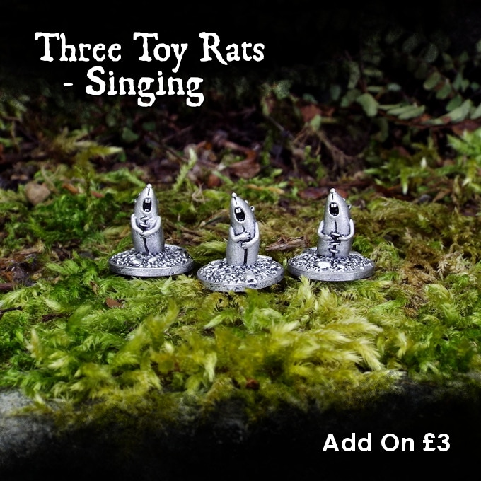 Add the three singing rats to your pledge for £3.