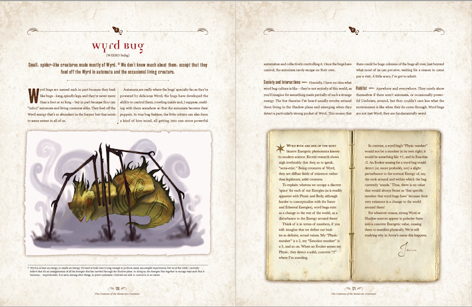 """The Wyrd Bug, from """"Imbelnhi's Bestiary: Being a Traveler's Account of Our Continent and Her Creatures"""""""
