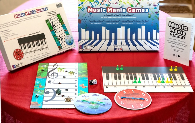 Music Mania games take a beginner and teaches music foundations as the player enjoys 4 fun games.