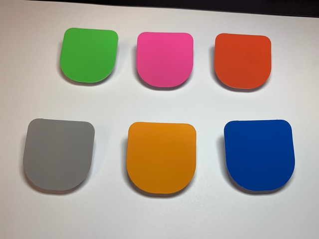 The 6 color samples from our factory. These will look different in person than on your screen.