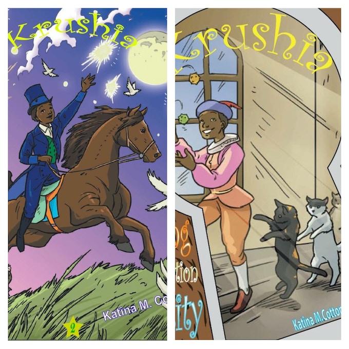 Covers of Krushia book 1 & 2