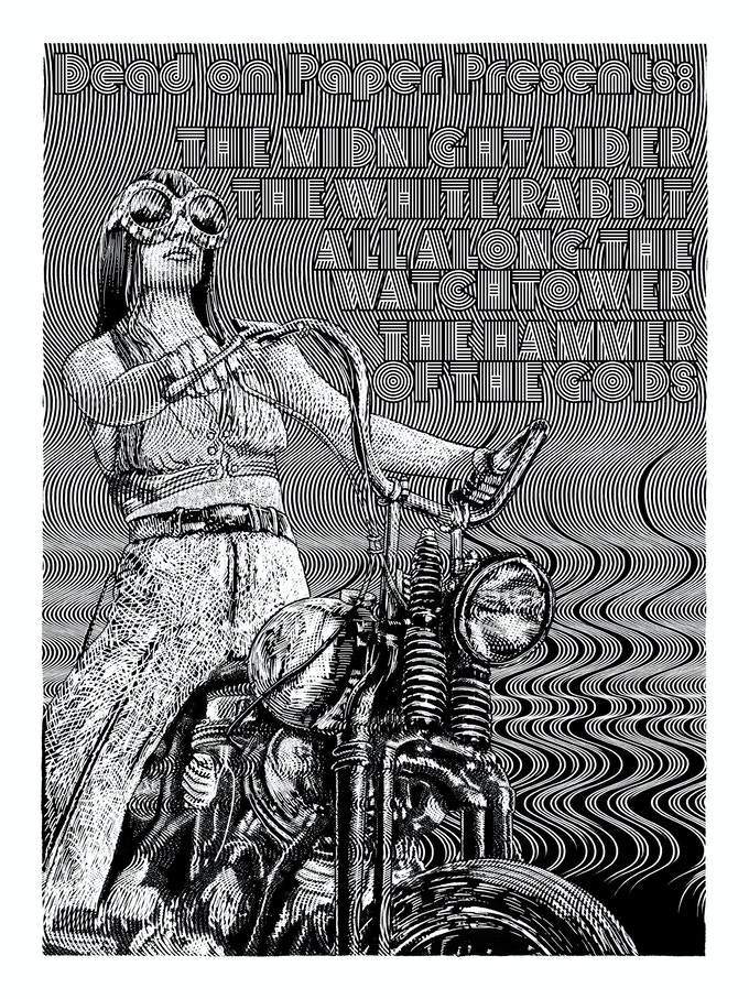 """'Biker' 18"""" x 24"""" Original print on museum-grade paper, signed and numbered in a limited edition."""