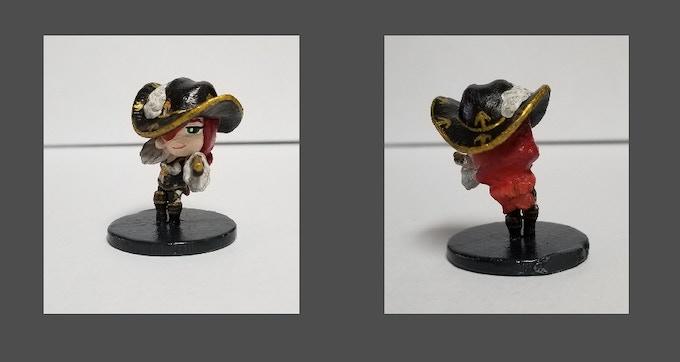 Anime Miniature Pirate Warlock Sereva