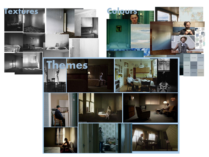 Moodboards done by Matilda (production designer)