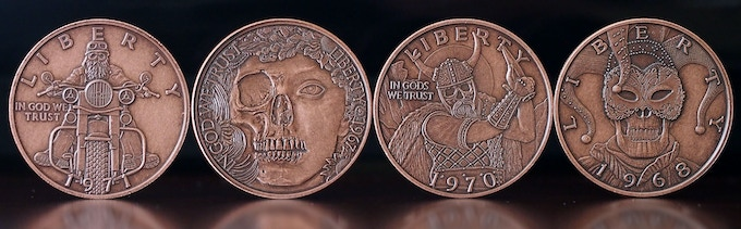 18K - Antique Copper available for all coins—LOCKED until 18K