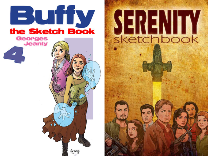 "Dedicated ""Buffy"" and ""Serenity"" Sketchbooks from Recent Years"