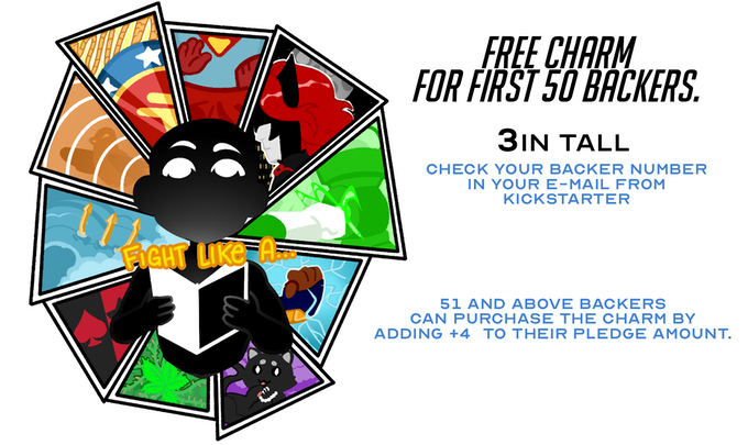Free charm for first 50 backers