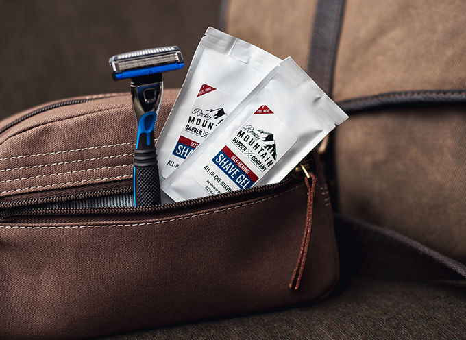 Our heated shave gels easily fits in pouches or pockets so you can free up room for other items.