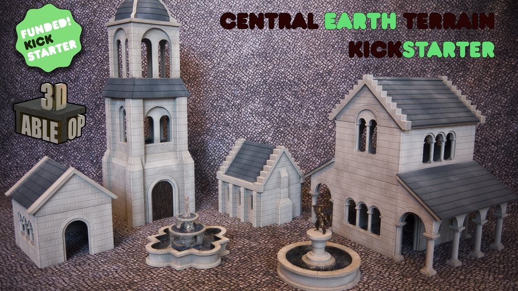 Project image for Central Earth 3D Printable Terrain