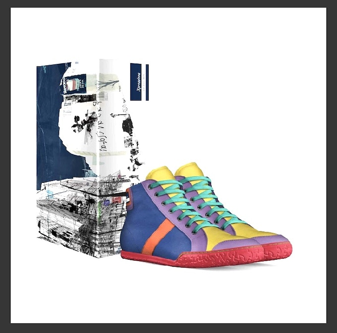 """""""The Pride Shoe"""" comes with this custom box both made in Italy"""