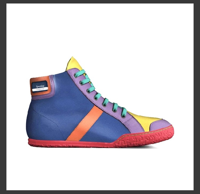 """""""The Pride Shoe"""" side view"""