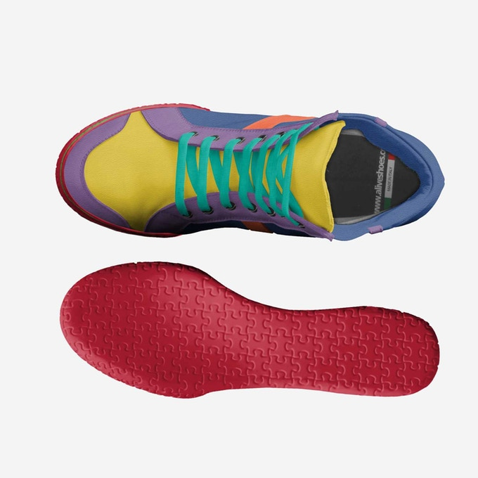 """""""The Pride Shoe"""" top view"""