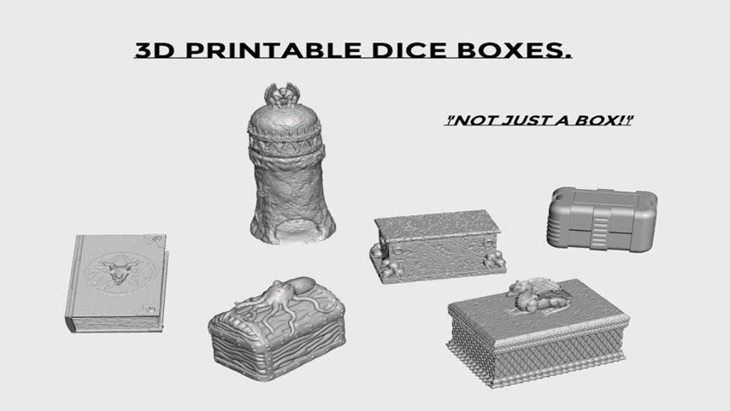 Project image for 3d Printable Dice Boxes.