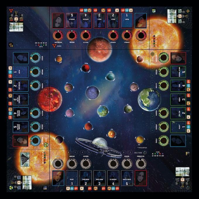 FOE game board.