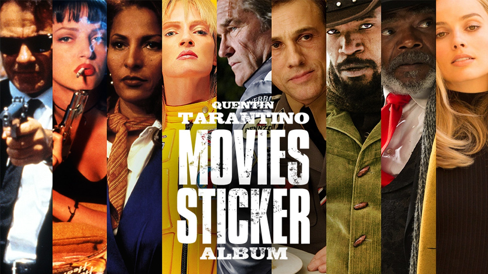 The first and only sticker album dedicated to the movies written & directed by Quentin Tarantino.