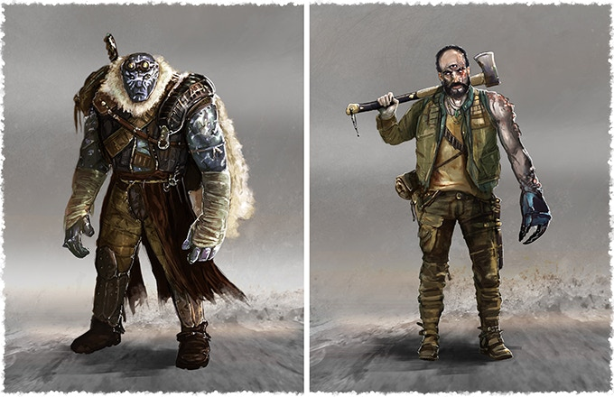 Additional playable races- The Helot and The Changed