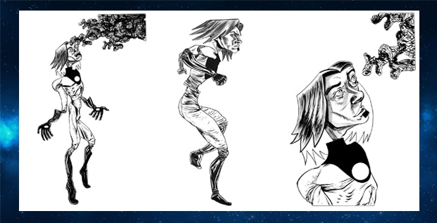 Examples of original interior art available through the campaign.
