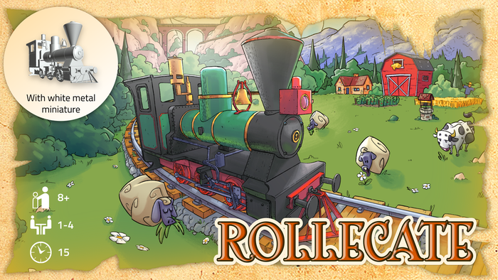Easy to learn and fast to play card game, combining push-your-luck with tactics, set building and a beautiful white metal locomotive.