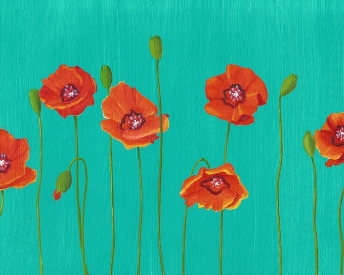 """Poppies"" Eco-Print"