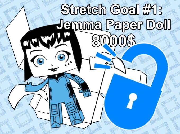 THE JEMMA PAPER DOLL IS UNLOCKED!