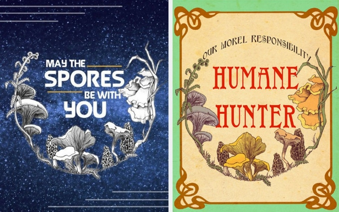 """""""May The Spores Be With You"""" Eco-Print // """"Humane Hunter"""" Eco-Print"""